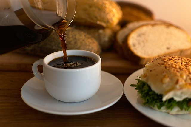 Coffee with breakfast