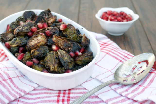 pomegranate balsamic brussels